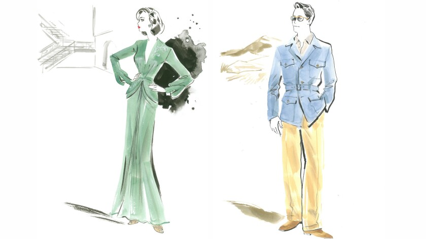 """""""Allied"""" costume designs by Joanna Johnston."""