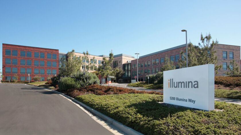San Diego-based Illumina is the world's leading maker of DNA sequencing equipment.