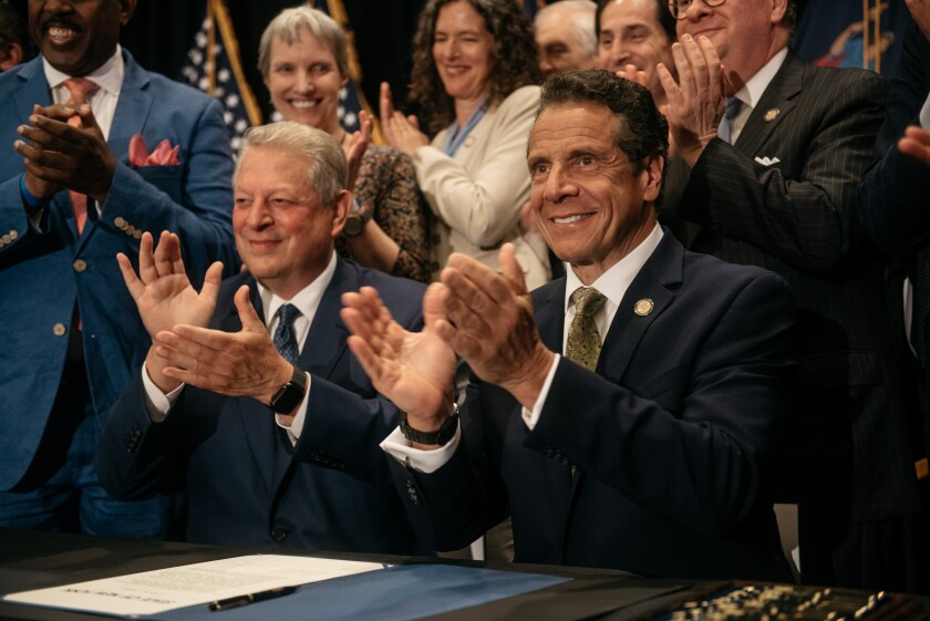New York Governor Andrew Cuomo and Al Gore