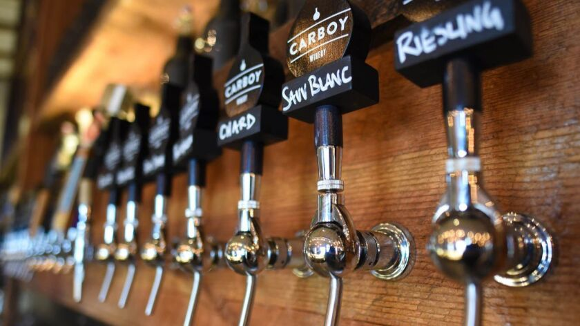 Carboy Winery tap room, about a 20-minute drive from Denver, is part of a burgeoning wine scene.