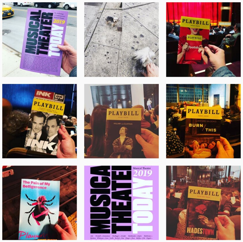 Jose Solis's Playbill-filled Instagram feed