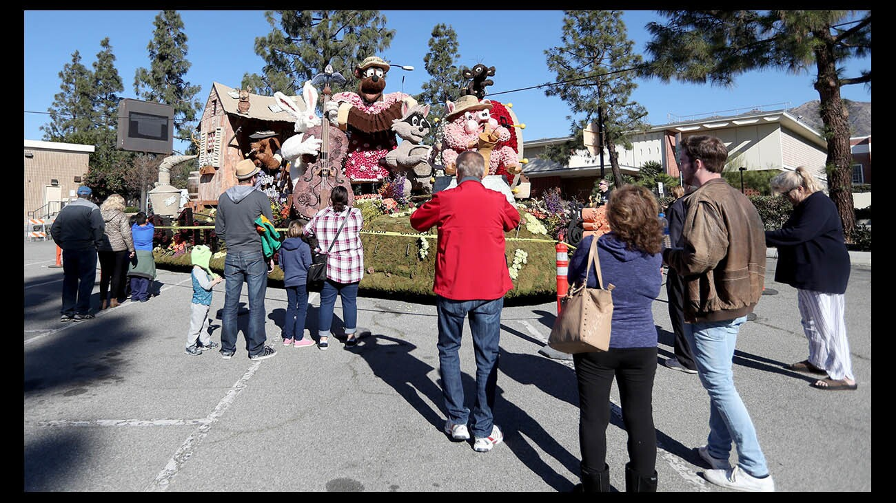 Photo Gallery: Burbank parade float on display
