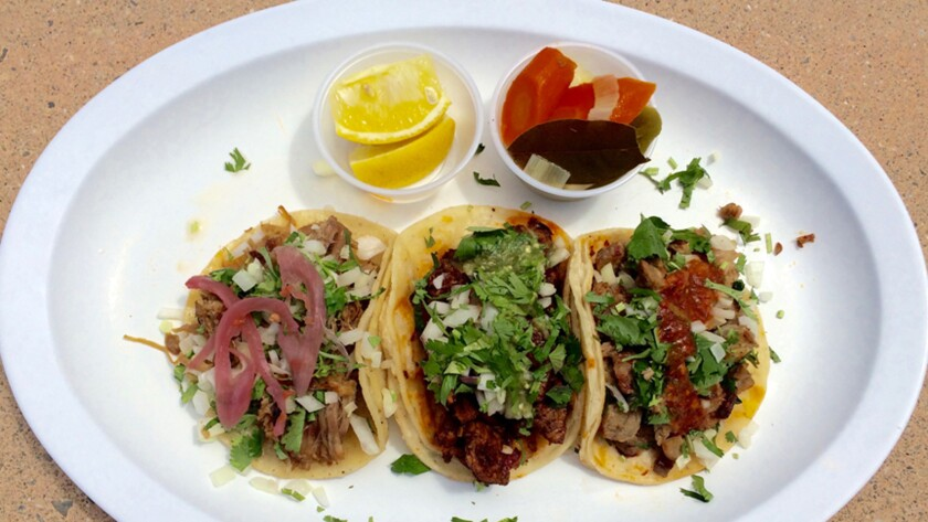 Tacos from Chevron Grill in West Hills.