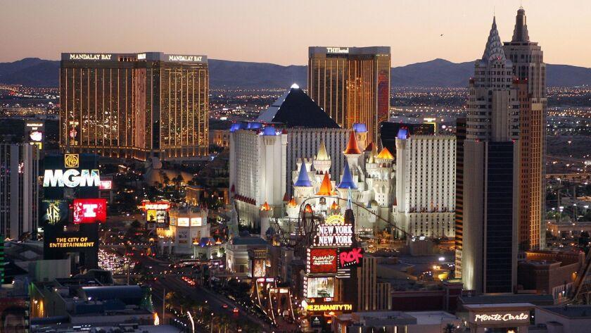 Casinos line the Las Vegas Strip on Oct. 20, 2009.