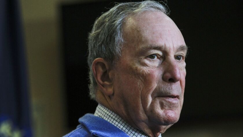 Former New York City Mayor Michael Bloomberg speaks at a Moms Demand Action gun safety rally at City