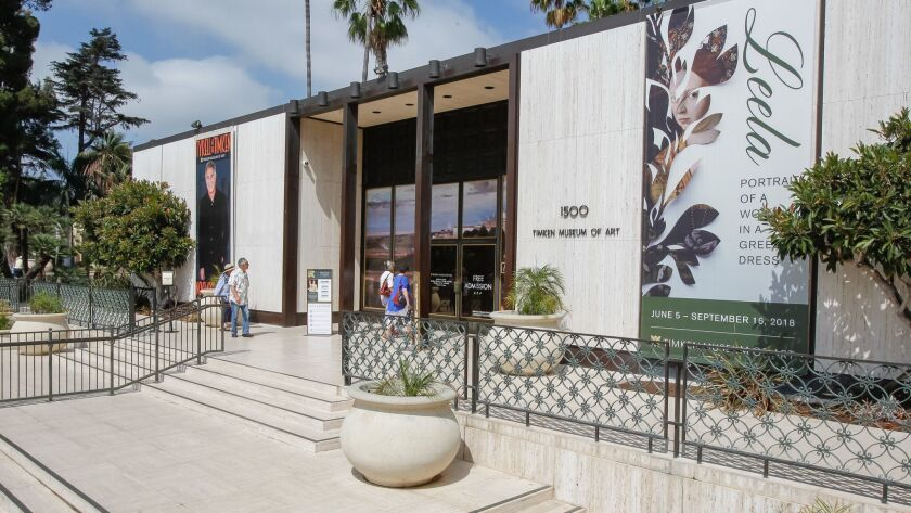 SAN DIEGO, CA Aug. 15th, 2018 | This is the entrance to the Timken Museum in Balboa Park in San Dieg