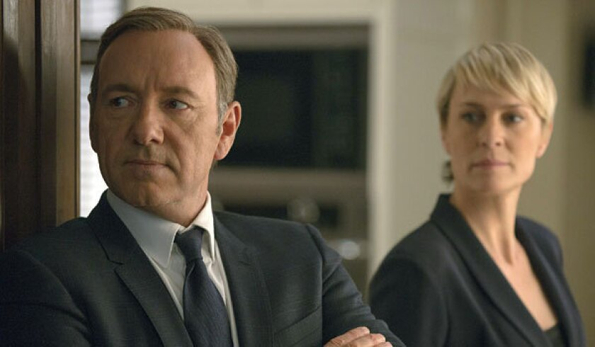 """Kevin Spacey and Robin Wright star in """"House of Cards."""""""