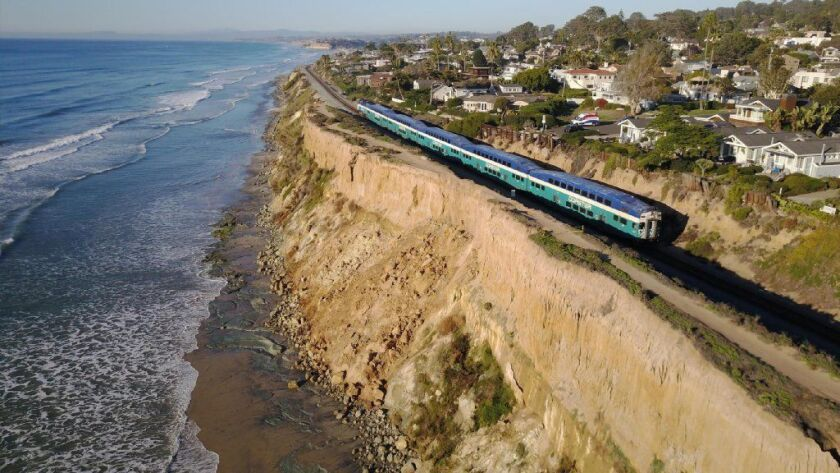 State funds will help stabilize the bluffs above the beach in Del Mar.