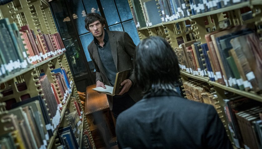 """Assassin (Boban Marjanovic, left) and John Wick (Keanu Reeves, right) in """"JOHN WICK: CHAPTER 3 - PAR"""