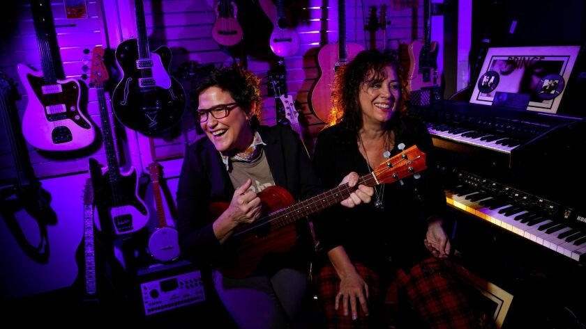 Wendy Melvoin, left, and Lisa Coleman in their studio in Hollywood.
