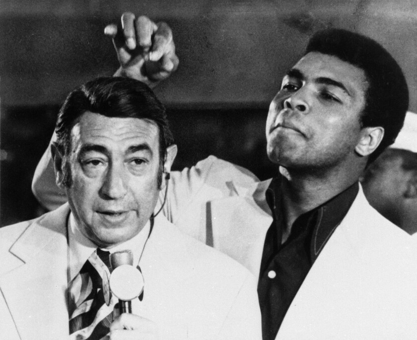 ABC's Howard Cosell and Muhammad Ali in 1972.