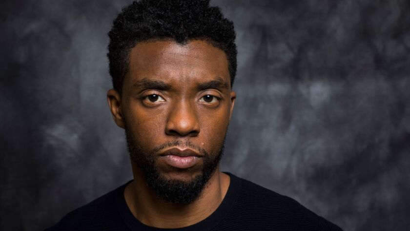 BEVERLY HILLS,CA --WEDNESDAY, JANUARY 31, 2018--Actor Chadwick Boseman is photographed during a day
