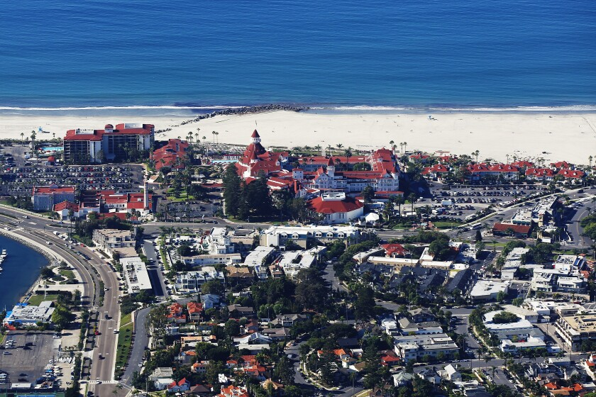 An aerial view of Coronado.