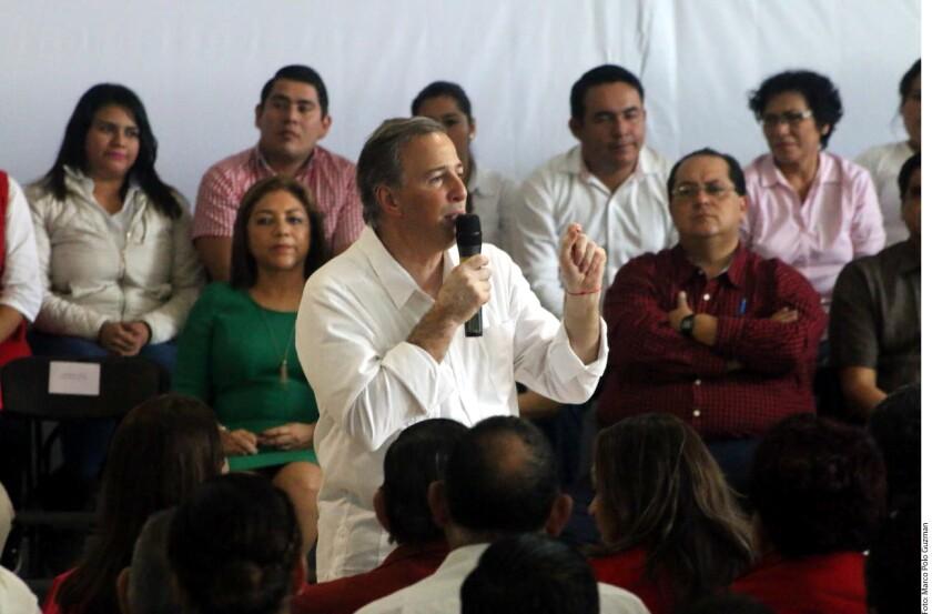 José Antonio Meade, precandidato presidencial del PRI, aseguró que la sociedad está cansada de la confrontación y los pleitos.