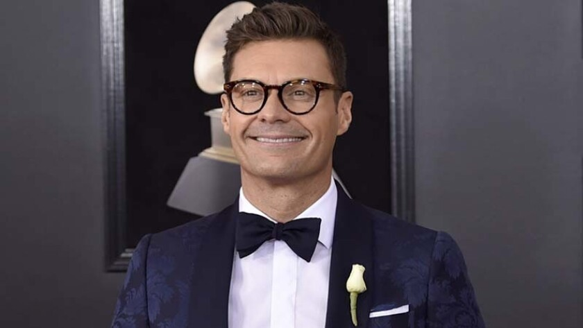 Ryan Seacrest at the 60th annual Grammy Awards in New York in January.