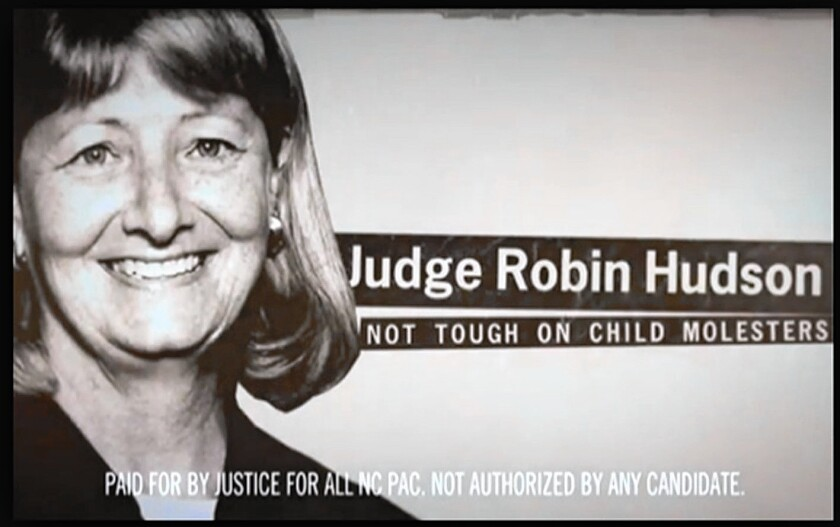 Judicial attack ad