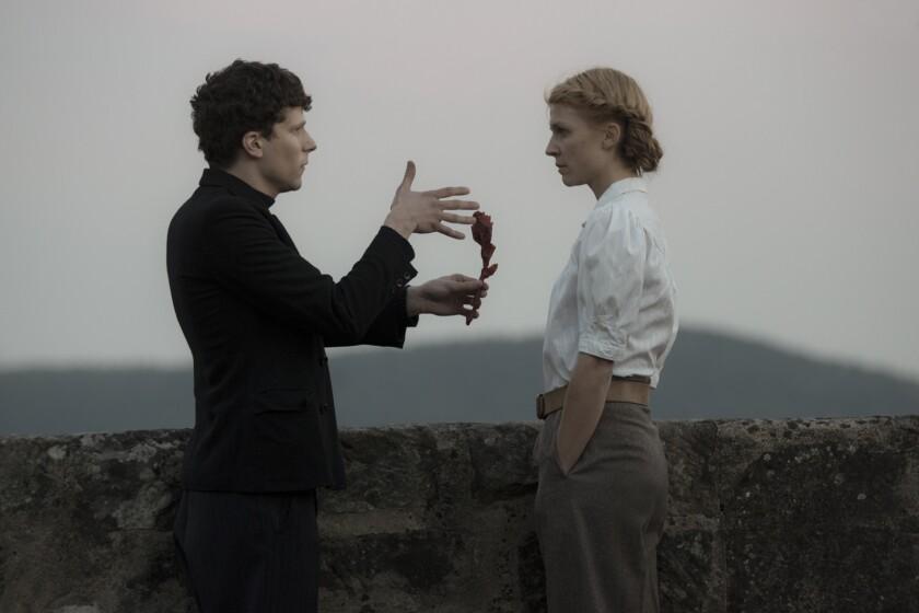 Review: Jesse Eisenberg stars as Marcel Marceau in 'Resistance' - Los  Angeles Times