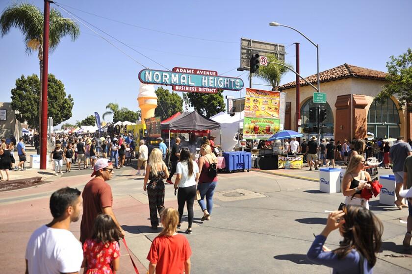 The Adams Avenue Street Fair on Saturday, Sept. 21, 2019