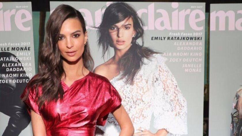 Former Encinitas resident Emily Ratajkowski, who is on the May cover of Marie Claire, attends the ma
