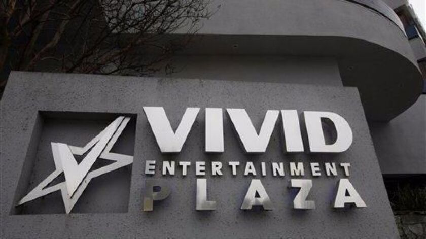 The offices of Vivid Entertainment Group, an adult entertainment studio, are seen in the Studio City area of Los Angeles, Monday, March 5, 2012.