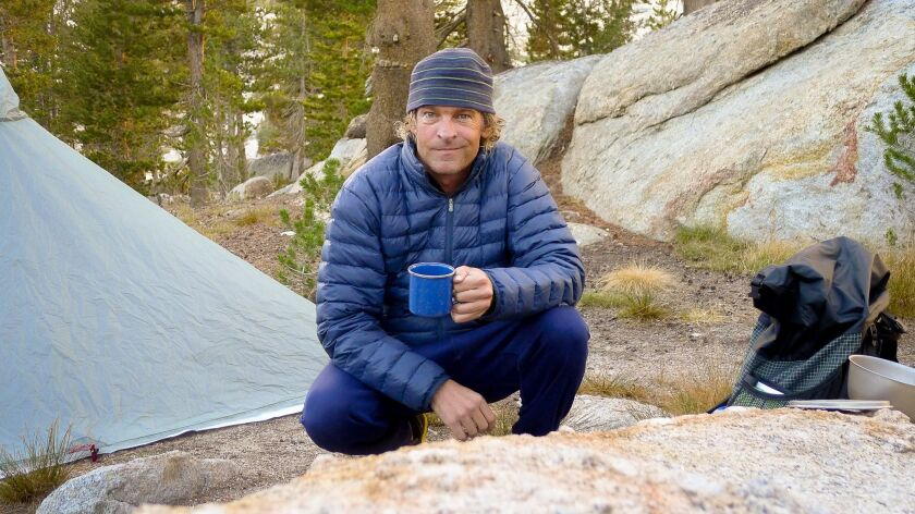 Ian McNally, owner of Muir Energy, on a camping trip