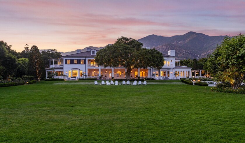 Rob Lowe's Montecito mansion