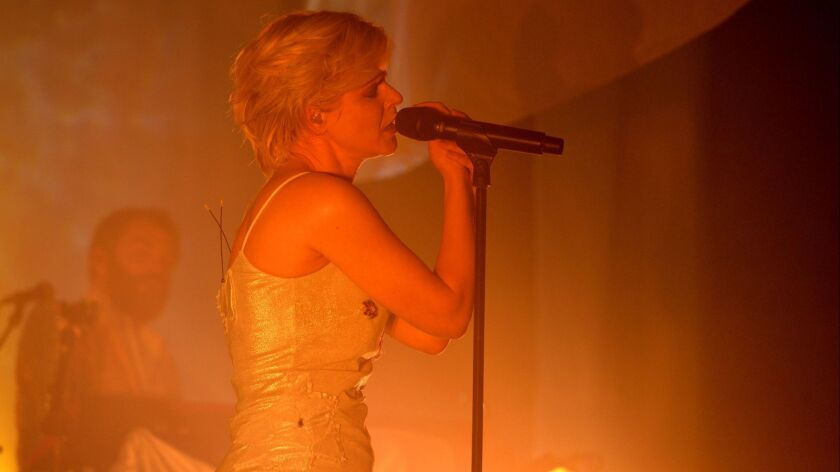 Singer Robyn performs at the Hollywood Palladium on Friday.