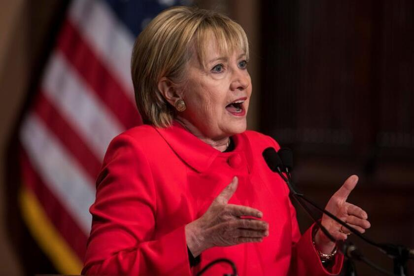 La excandidata demócrata en las elecciones presidenciales de noviembre de 2016, Hillary Clinton. EFE/Archivo