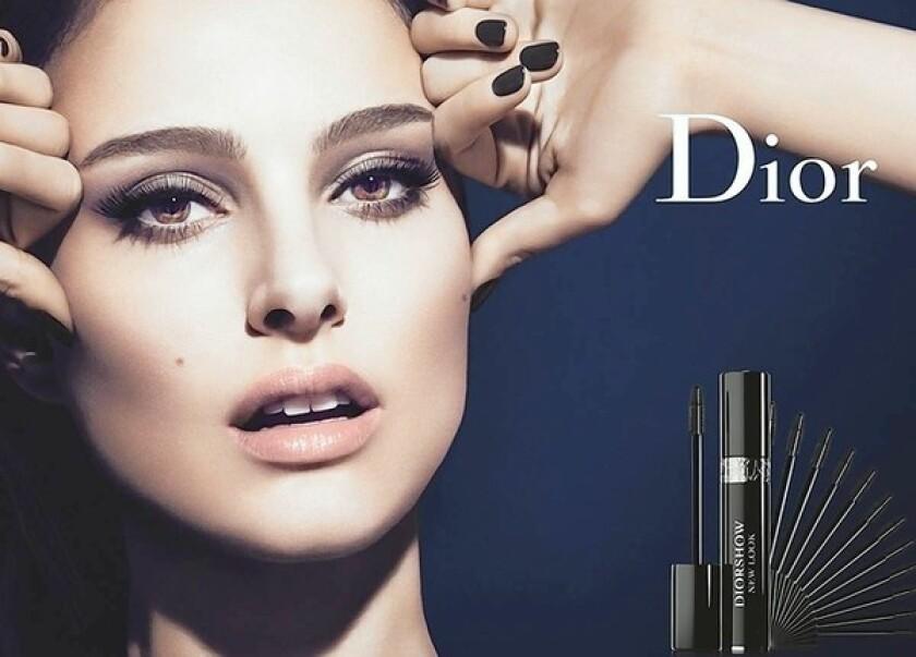 Christian Dior ad with Natalie Portman