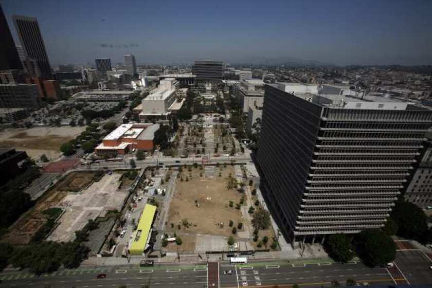 Downtown L.A.'s Grand Park readies for July 28 partial opening