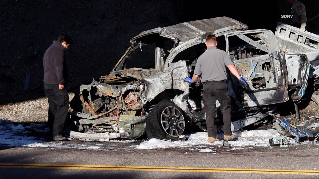 Driver killed in fiery crash in East County - The San Diego