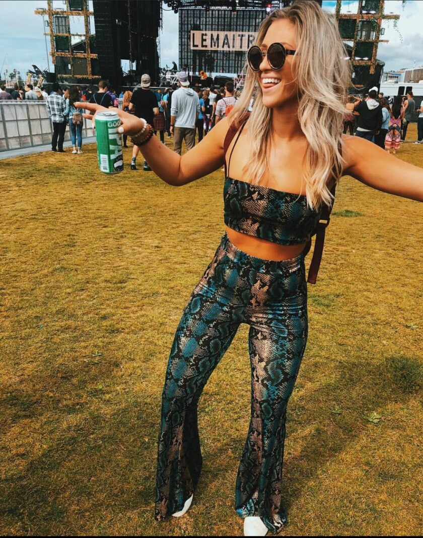 Samm Jandrisch is a trendsetter who loves to go to music festivals, like CRSSD.