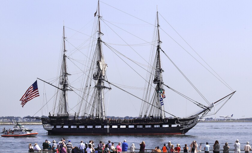 The USS Constitution, also known as Old Ironsides.
