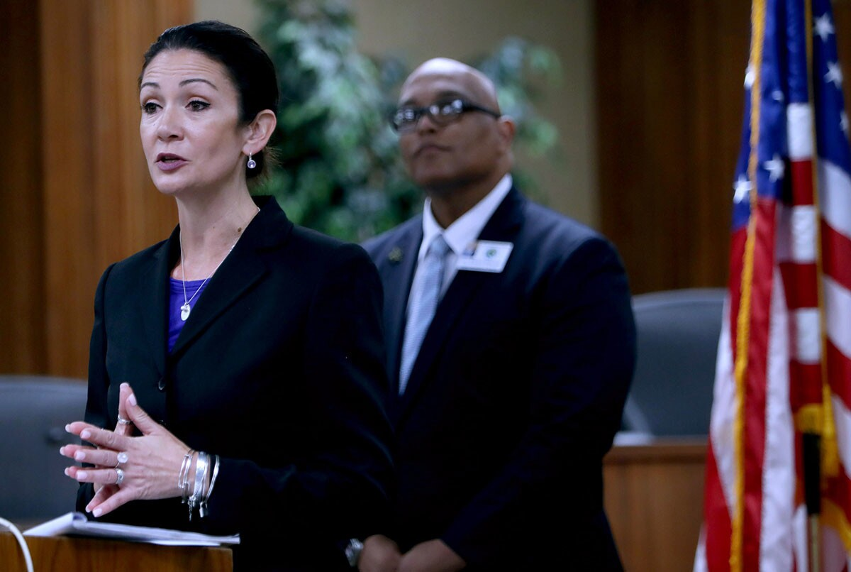 Photo Gallery: GUSD press conference addresses recent fight, football game cancellations at Hoover High