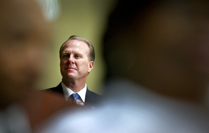 Mayor Kevin Faulconer during a special session of the San Diego City Council