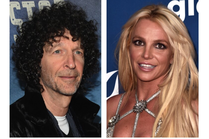 Headshots of Howard Stern and Britney Spears