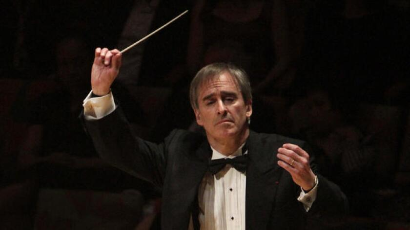 James Conlon conducts at Walt Disney Concert Hall on April 27, 2014.