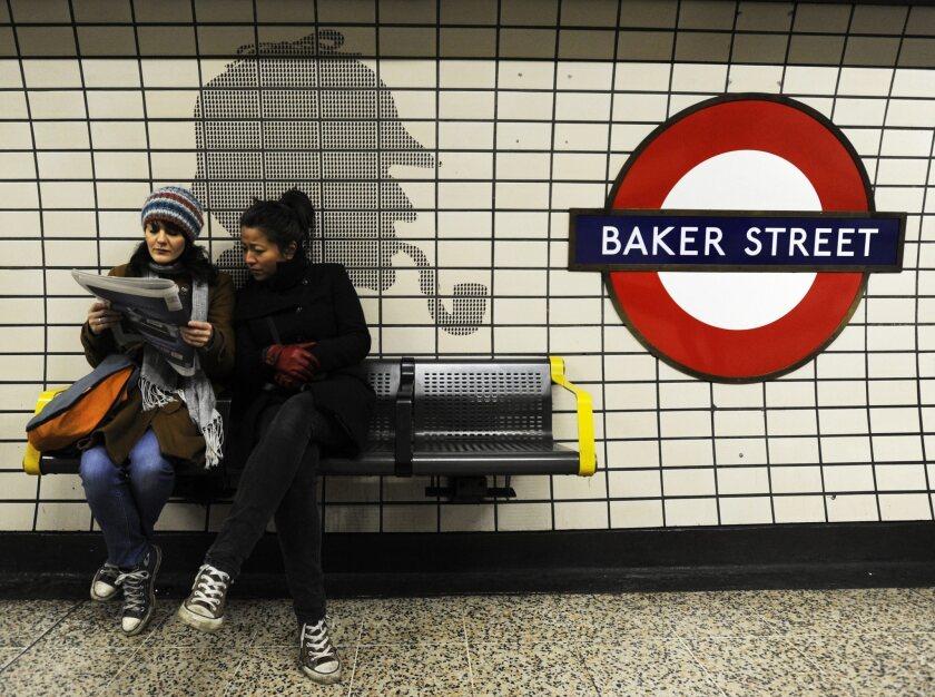 Sherlock Holmes haunts the London Tube.