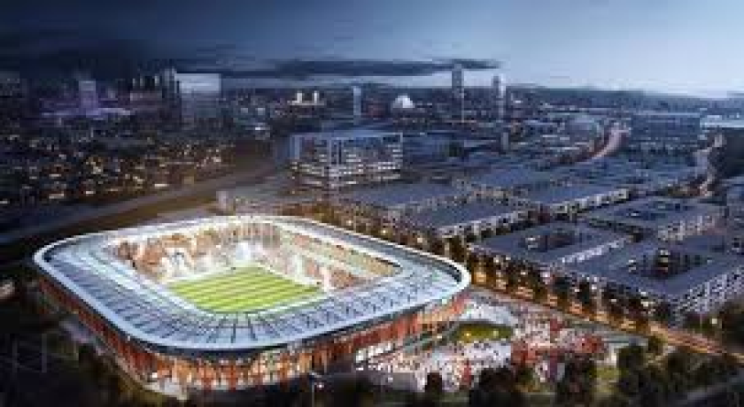 A rendering of the proposed MLS stadium in St. Petersburg, Fla., that would serve the team in the Tampa/St. Petersburg area.