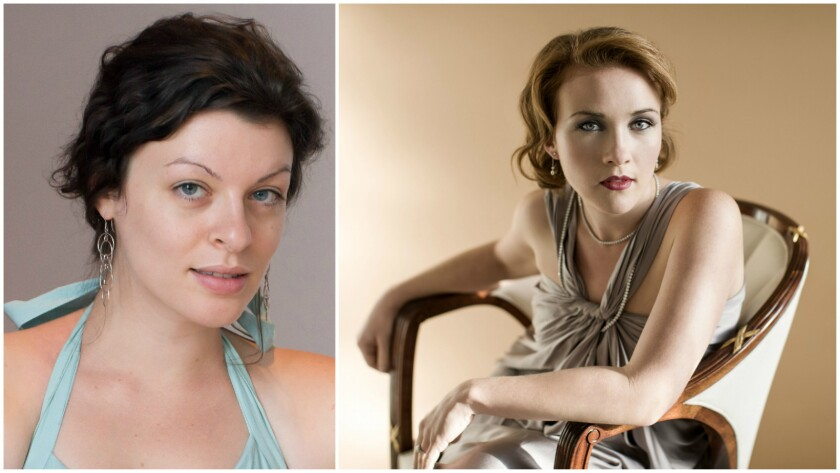 Los Angeles Chamber Orchestra's weekend program included a new piece written by Julia Adolphe, left, and an exquisite performance by mezzo-soprano Sasha Cooke.