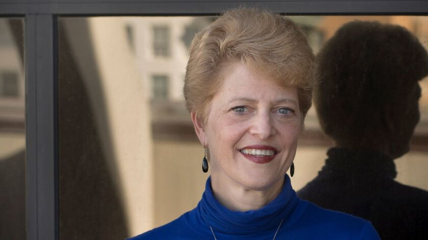 Carey Perloff at the headquarters of the American Conservatory Theater in San Francisco.