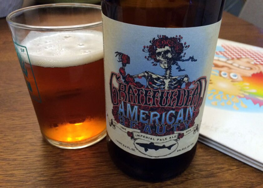 The Delaware craft brewer Dogfish Head has re-released its American Beauty imperial pale ale in honor of the Grateful Dead's Fare Thee Well shows