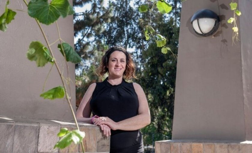 """Sonia Olea Coontz, of Long Beach had a stroke in 2011 that affected the movement of her right arm and leg. After genetically modified stem cells were injected into her brain as part of a clinical trial, she says her limbs """"woke up."""""""