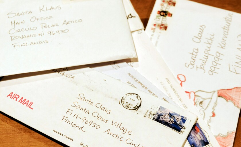 Santa's Post Office receives a half million letters annually.