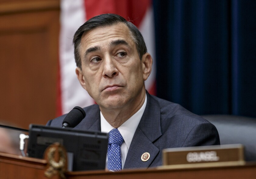 Former Rep. Darrell Issa stepped down from his seat in 2018. He is running now to replace Rep. Duncan Hunter, who resigned after pleading guilty to diverting campaign funds for personal use.