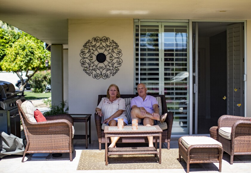 Al and Cathy Kurtz at their Rancho Mirage residence.