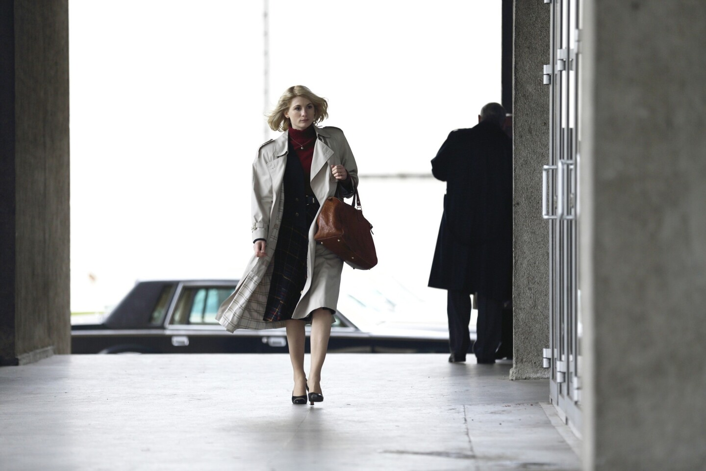 """Jodie Whittaker as Agent Sandy Grimes in """"The Assets,"""" which premieres at 10 p.m. Jan. 2 on ABC."""