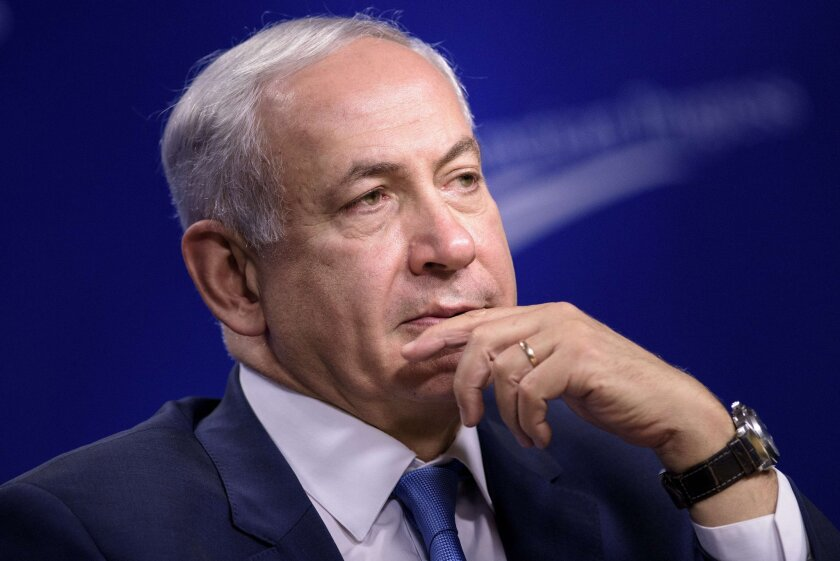 "Israeli Prime Minister Benjamin Netanyahu said the ""labeling of products of the Jewish state by the European Union brings back dark memories."""