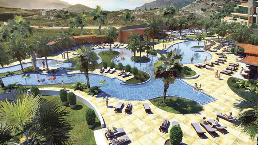The new pool complex at Sycuan, complete with lazy river, adult and children's pools, is part of a 4