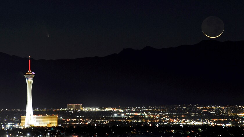 Is the Stratosphere Casino Hotel really on the Vegas Strip? In a city built on illusion, it's difficult to say.